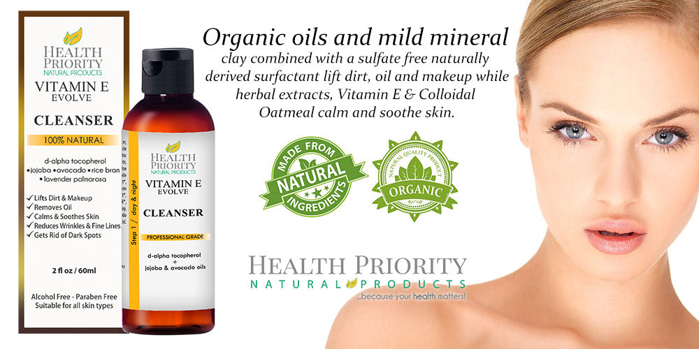 100% Natural Vitamin E Facial Cleanser