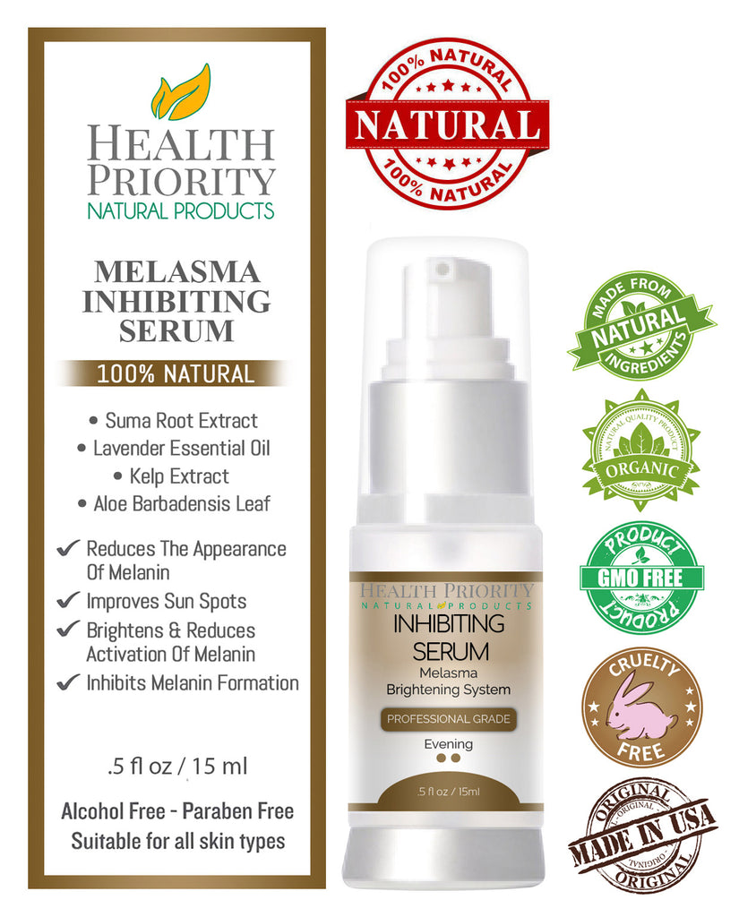 100% Natural & Organic Melasma Inhibiting Serum