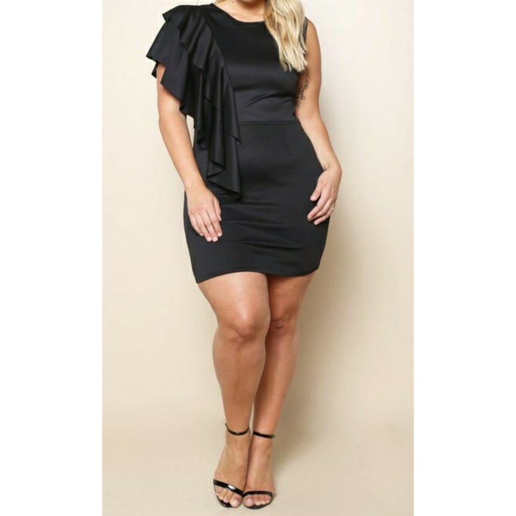 Shoulder Ruffle Dress