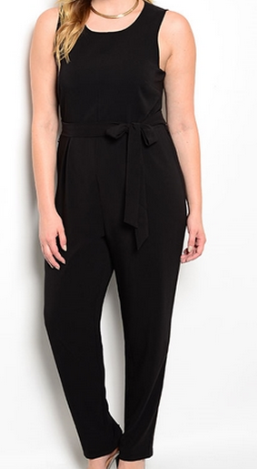 Sleeveless Structured Jumpsuit
