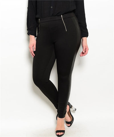 Black Pant With Leather TUXEDO Stripe