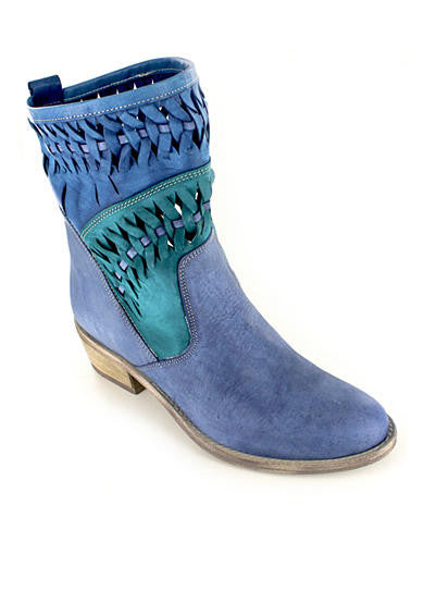 Christy Turquoise Multi Leather Italian Boot