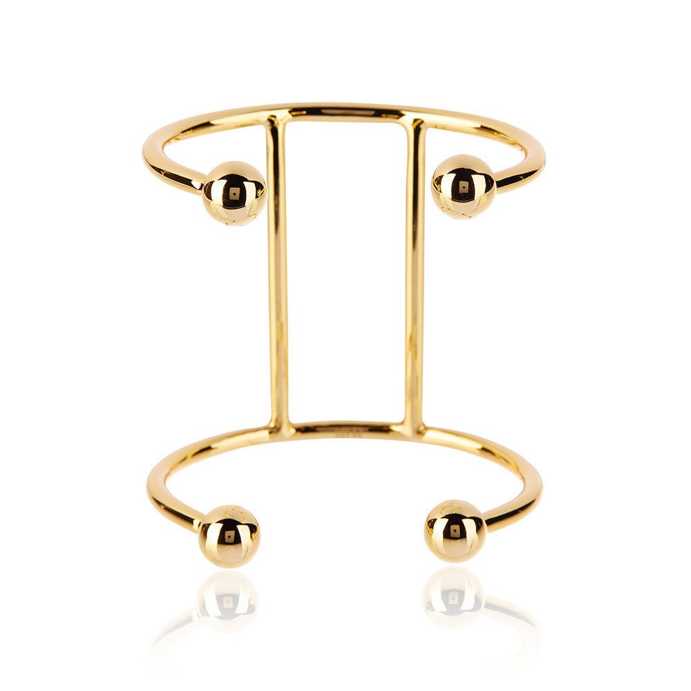 Luv AJ Double Barbell Gold Cuff