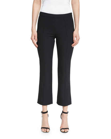 Cinq ÌÊ Sept Onyx Flare-Leg Cropped Pants, Black