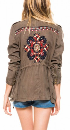 Pam & Gela Parka With Embroidery