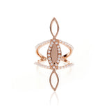 Triple Marquise Statement Ring - Rose Gold