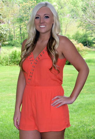 Orange Sunset Romper