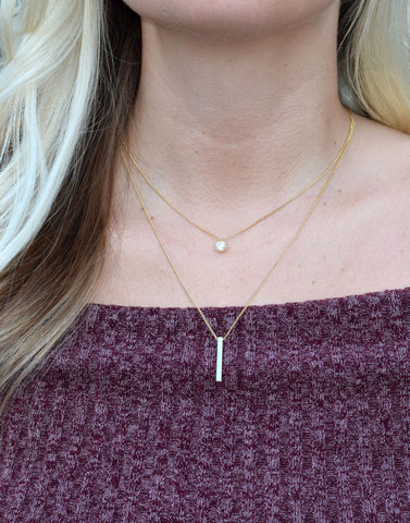 Double Row Pendant Necklace