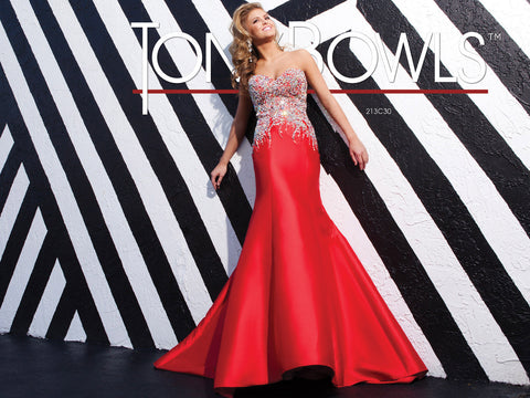 Tony Bowls Red Pageant Dress