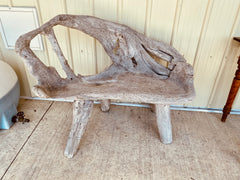Such an incredible one-of-a-kind wooden bench!