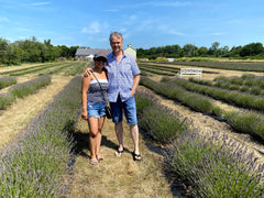 Both of us at the lavender farm