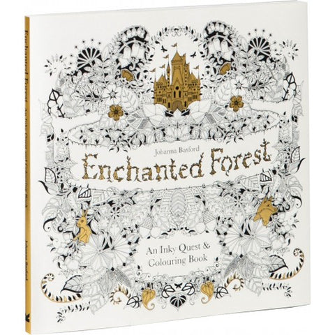 Enchanted Forest: An Inky Quest & Coloring Book (mini)