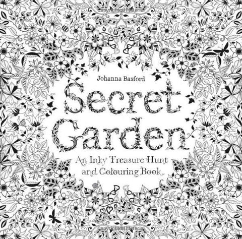 New Sale Secret Garden An Inky Treasure Hunt And Coloring Book Mini