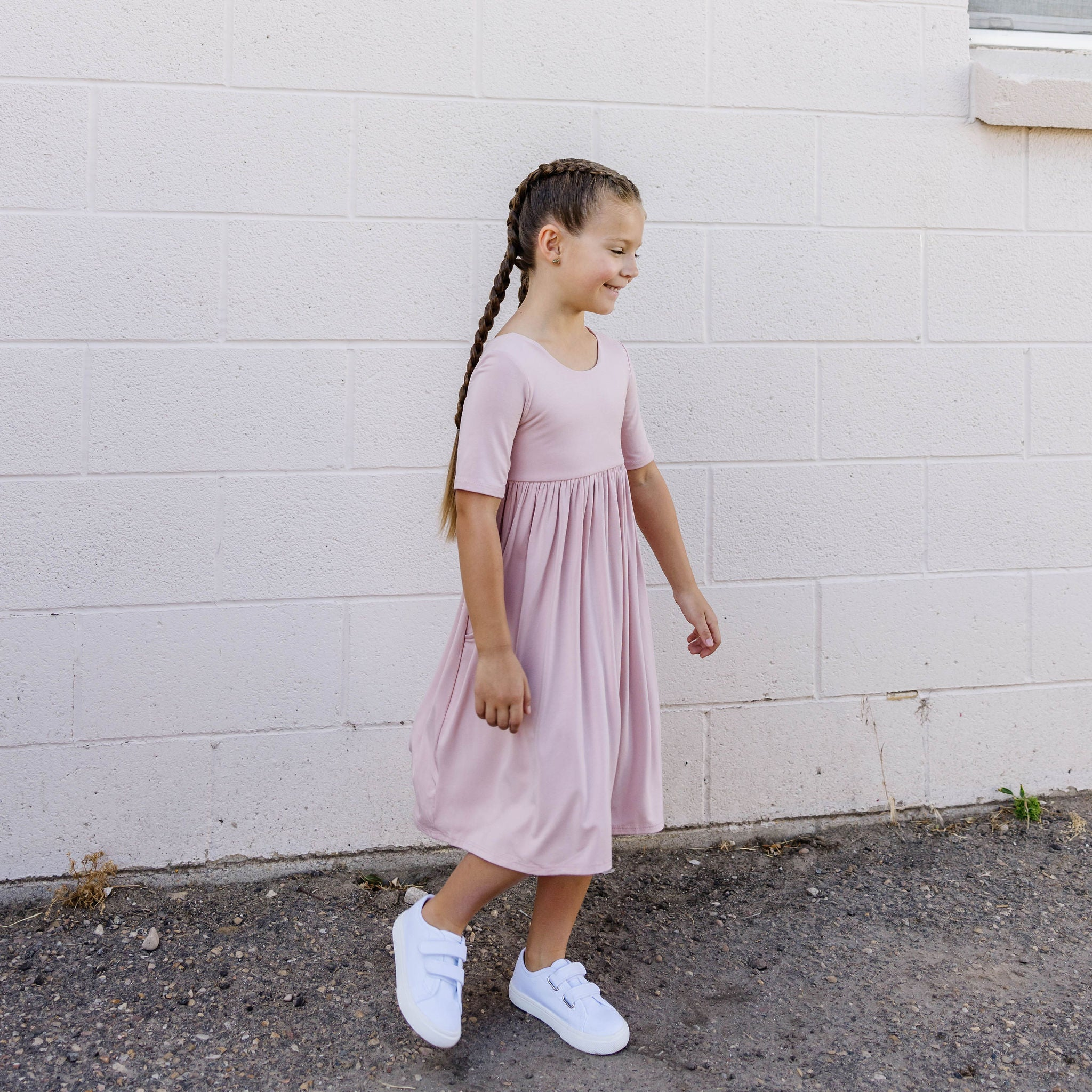 POCKET TWIRL DRESS - ROSIE
