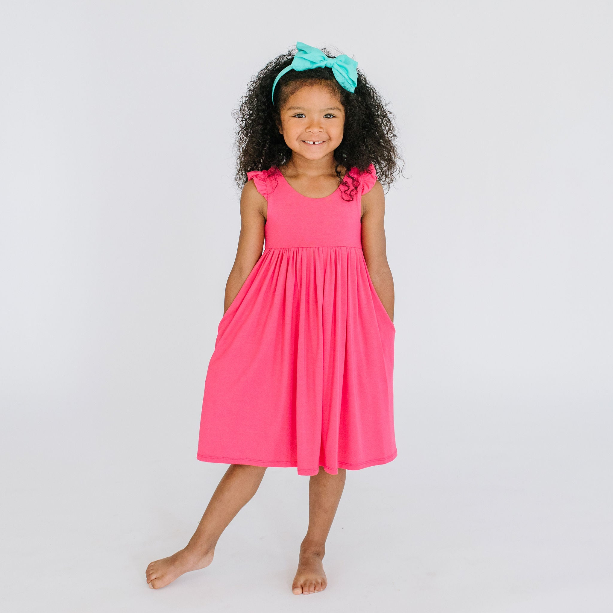 JUNIE DRESS - FLAMINGO