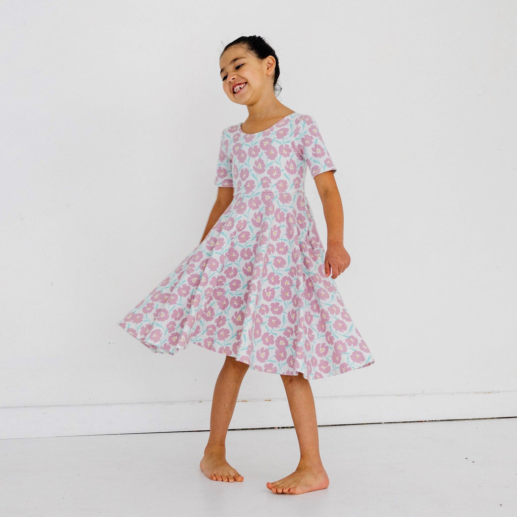 DANIE EYELET DRESS - POWDER BLUE