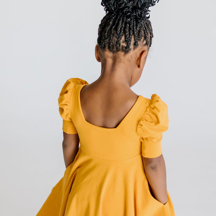 ADALIE DRESS - MUSTARD