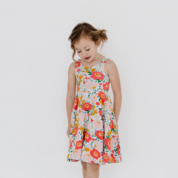 TILLIE DRESS - CORAL