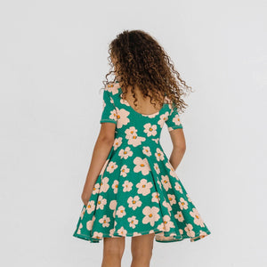 DANIE DRESS - KELLY GREEN