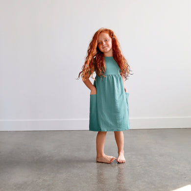 JANIE DRESS - SEAFOAM