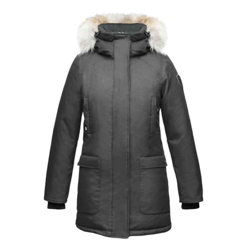Carla Ladies Parka - Steel Grey