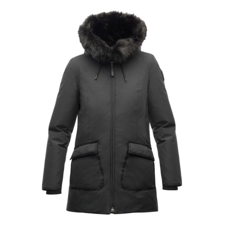 Mindy Ladies Parka - Black (synthetic fur)