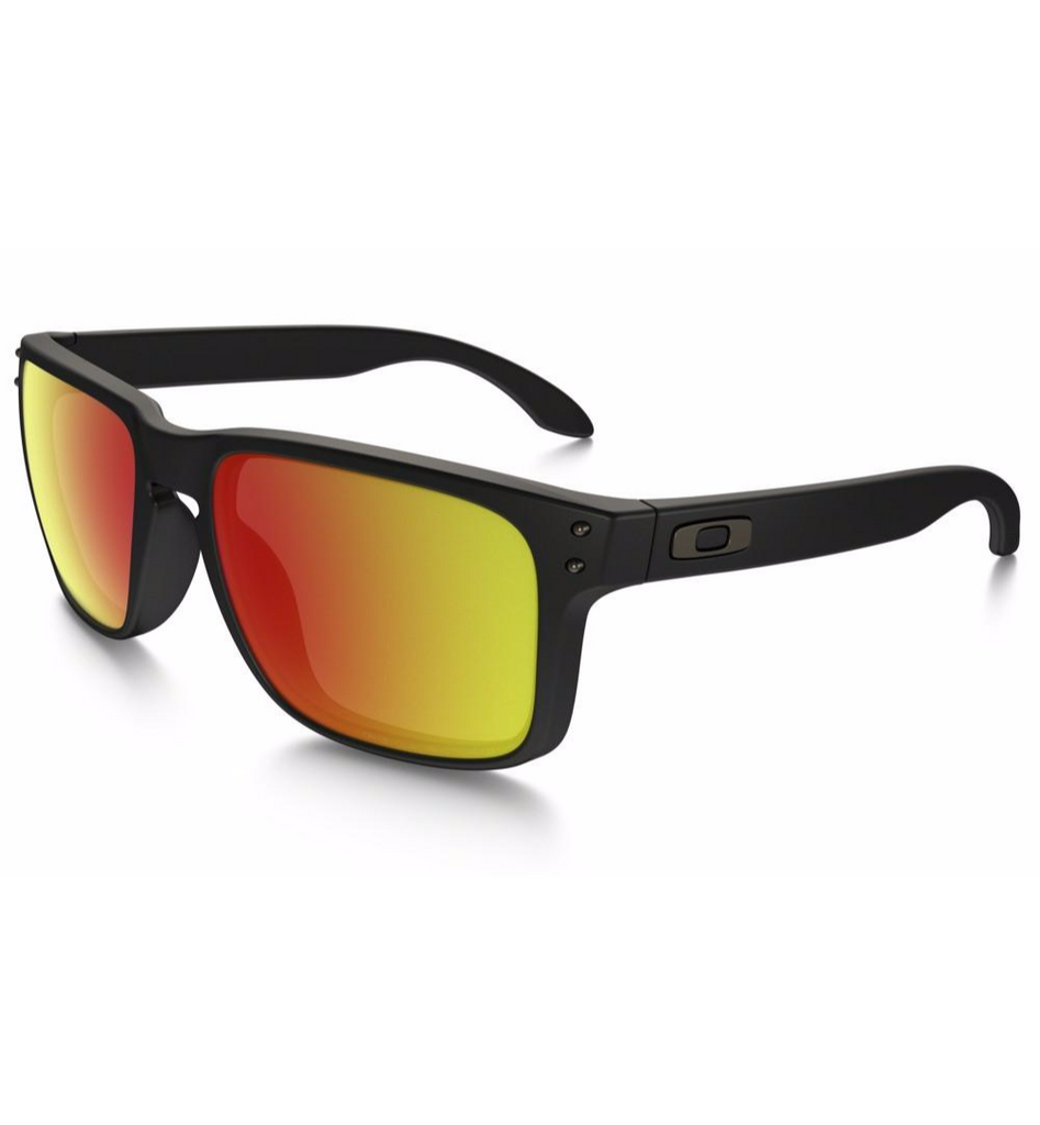 Holbrook Matte Black with Ruby Iridium Polarized