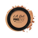 Pro Face Matte Pressed Powder - GPP607 Warm Honey - LA Girl Cosmetics - 7