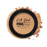 Pro Face Matte Pressed Powder - GPP609 Medium Beige - LA Girl Cosmetics - 9
