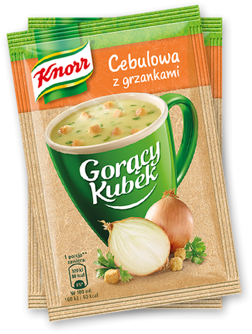 Knorr Goracy Kubek Cebulowa z Grzankami Onion Soup w Croutons - 17 g -  in stock from November 11 - Polana
