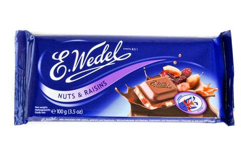 Wedel - Milk Chocolate with Raisins and Nuts