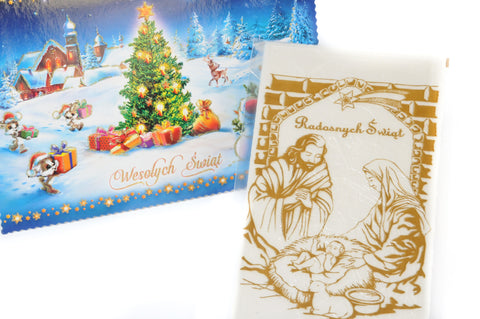 Christmas card w/ wafer - Oplatek z Kartka - 3 Large - Polana