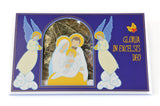Christmas Wafer w/Hey - Szopka - Oplatek Swiateczny - 4 large