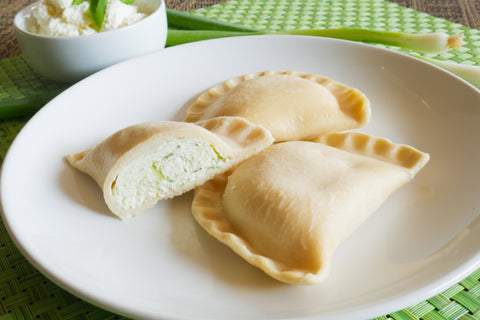 Gluten Free Farmer Cheese & Green Onion Pierogi-[polana]