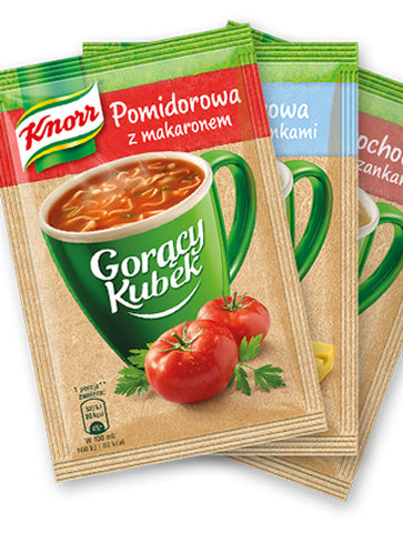 Knorr Goracy Kubek Pomidorowa z Makaronem - 17 g -  in stock from November 11 - Polana