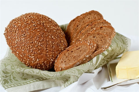 Dark Rye Bread with Oats