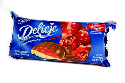 Delicje - Soft Biscuits Topped with Chocolate - Cherry - Polana