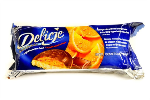Delicje - Soft Biscuits Topped with Chocolate - Orange - Polana
