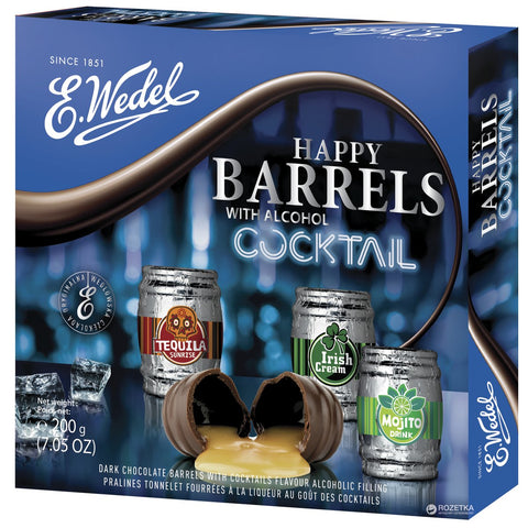 Barylki Chocolates with Cocktail
