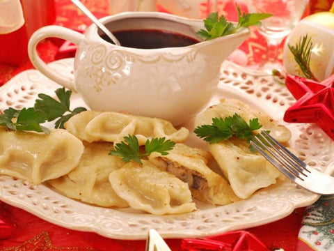 Christmas Pierogi Package - Potato-Cheese, Sauerkraut-Mushroom, Uszka With Mushroom - Polana