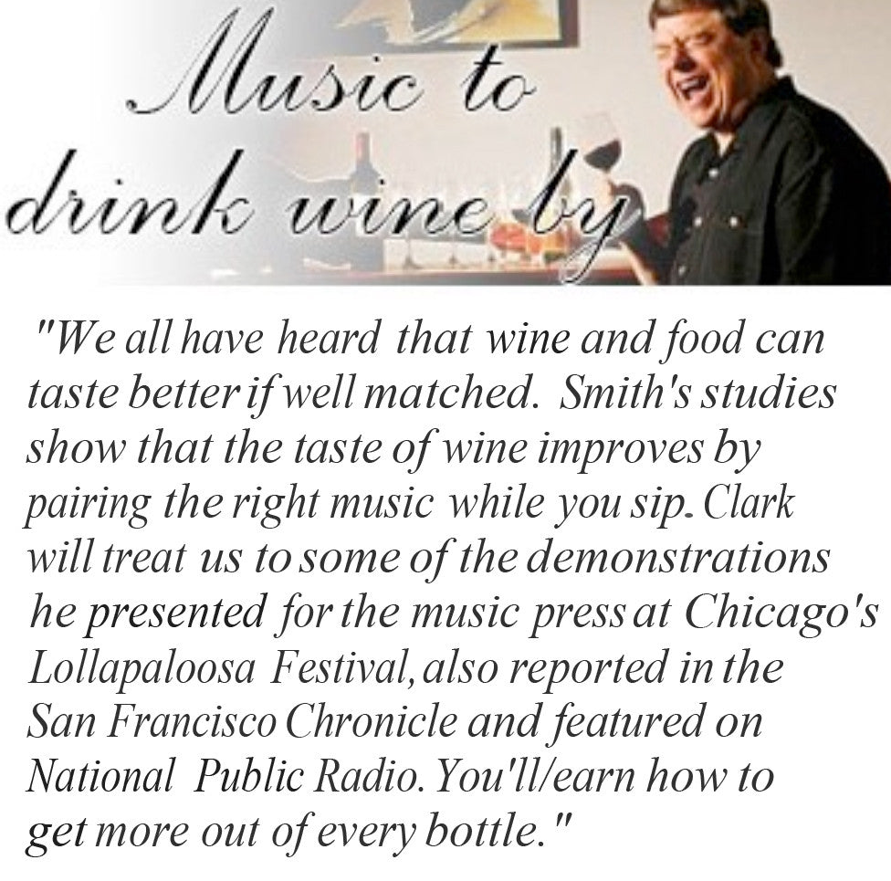 Wine and Music Workshop, Saturday, March 21, 2020