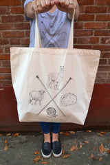 Stash Fiber Friends - Tote Bag