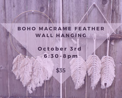 Boho Macrame Feather Wall-Hanging