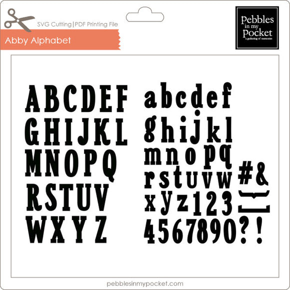 Abby Alphabet Digital Download SVG & Pdf