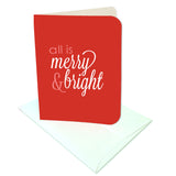 All is Merry and Bright Prints/Card Digital Download Print/Cut SVG & Pdf