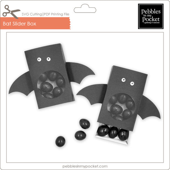 Bat Slider Box Digital Download SVG & Pdf