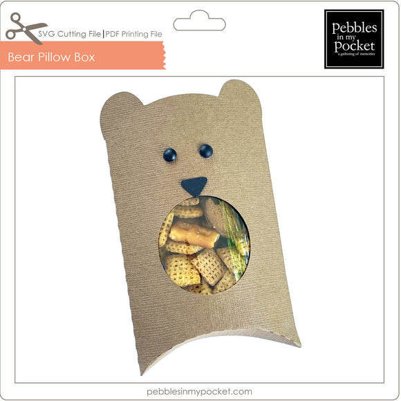 Bear Pillow Box Digital Download SVG & Pdf