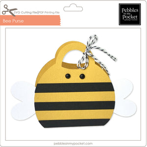 Bee Purse Digital Download SVG & Pdf