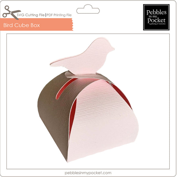 Bird Cube Box Digital Download SVG & Pdf