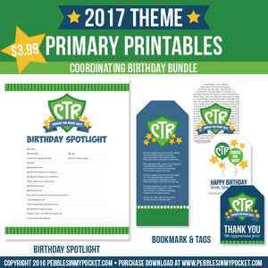 Primary 2017 Birthday Bundle Digital Download Pdf & Jpgs